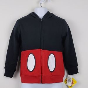 Mickey Mouse- Full zip hooded jacket 5T
